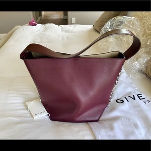 Givenchy Bags - Givenchy infinity bucket bag Oxblood Red(burgundy)